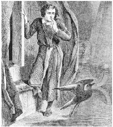 Illustration from The Raven, 1845. GETTY IMAGES