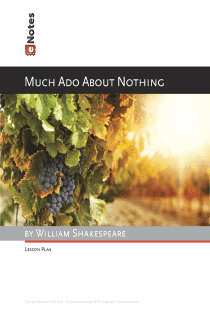 Much Ado About Nothing eNotes Lesson Plan content