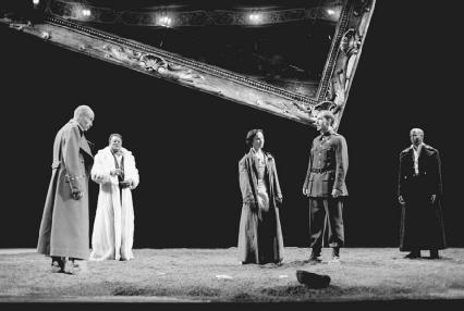 George Anton, Jeffery Kissoon, Olwen Fouere, Simon Turner, and Nicholas Bailey in a 1998 production of Life is a Dream