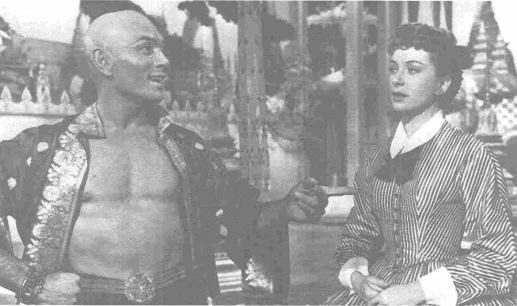 Yul Brynner as the King and Deborah Kerr as Anna in the film adaptation