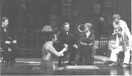 A scene from the 1983 National Theatre production in London