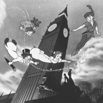 A scene from the immensely popular animated version of Barrie's play
