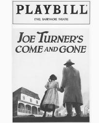 Playbill cover from the 1988 theatrical production Joe Turners Come and Gone, performed at the Ethel Barrymore Theatre in New York City