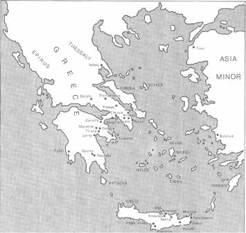 Map of the Aegean region