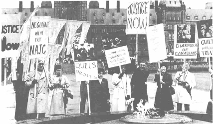 Protests by Japanese Canadians eventually led to compensation by the government for the injustices done to them during the war.