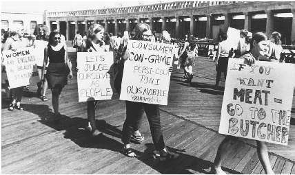 Gender roles were being redefined in 1969, when Left Hand of Darkness was published. At a 1968 protest against the Miss America Pageant, these women voiced their opposition to what they saw as a practice of objectifying women.