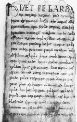 A page from an early Beowulf manuscript. This work was among Tolkien