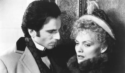 Daniel Day-Lewis as Newland Archer and Michelle Pfeiffer as Countess Ellen Olenska in the 1993 film version of the novel.