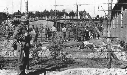 Polish prisoners at a Nazi concentration camp