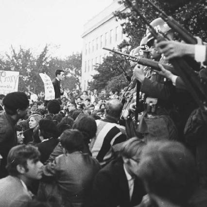 An anti-Vietnam War protest