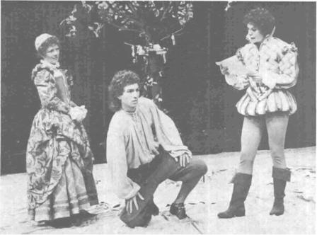 Celia, Silvius, and Rosalind in National Theatre Production (1979)