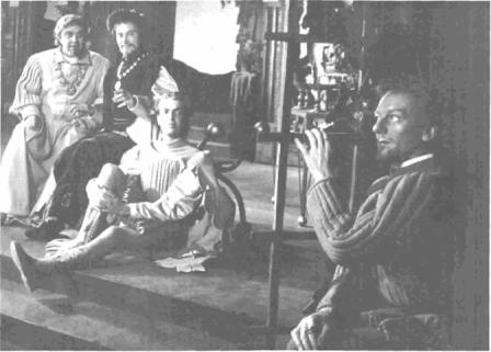 Leonato, Don Pedro, Claudio, and Benedick in Shakespeare Memorial Theatre production (1950)