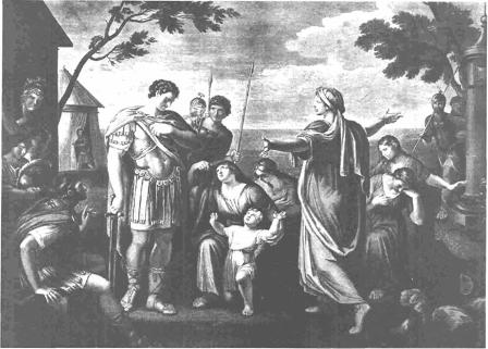 Coriolanus, Virgilia, Volumnia, Valeria, and others, by William Hamilton