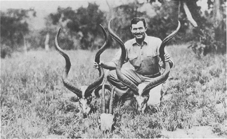 Ernest Hemingway on a safari in Africa in 1937