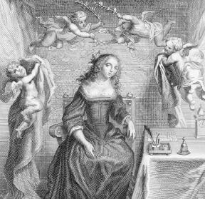 A frontispiece with an engraving of Margaret Cavendish. She produced a more substantial body of work than any other mid-seventeenth-century woman. Reproduced by permission of Mary Evans Picture Library.