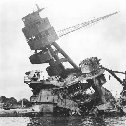 The USS Arizona after Japan