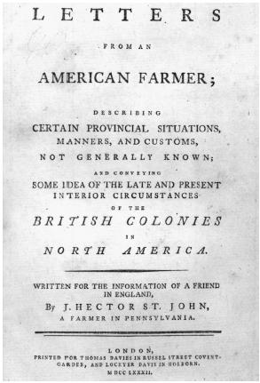 Letters From An American Farmer Summary