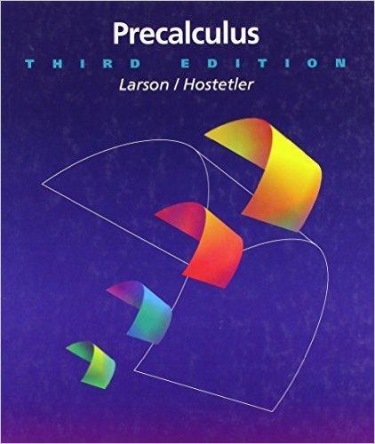 Book Cover for Precalculus (3rd Edition, Ron Larson)