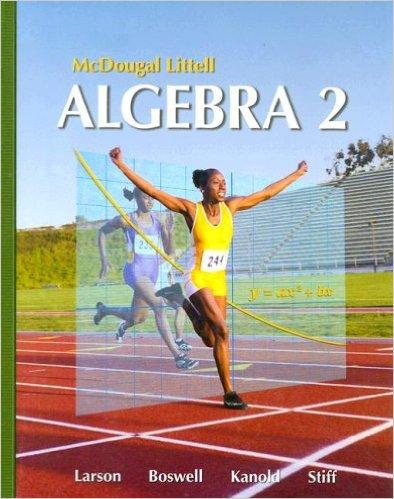 Book Cover for McDougal Littell Algebra 2 (1st Edition, Ron Larson)