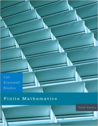 Book Cover for Finite Mathematics (9th Edition, Margaret Lial)