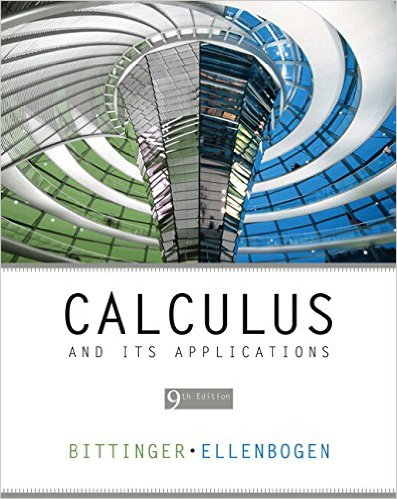 Book Cover for Calculus and Its Applications (9th Edition, Marvin L. Bittinger)