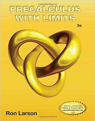 Book Cover for Precalculus With Limits (3rd Edition, Ron Larson)