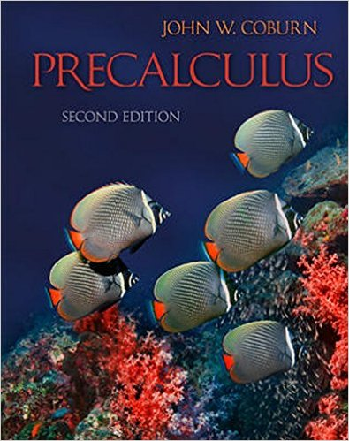 Book Cover for PreCalculus (2nd Edition, John Coburn)